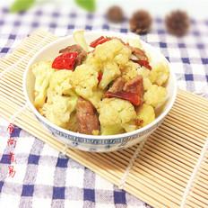 干椒花菜炒肉片