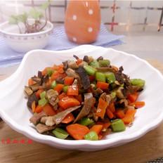 胡萝卜四季豆肉丁