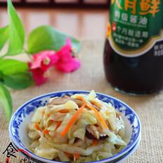 炝炒冬菇包菜丝