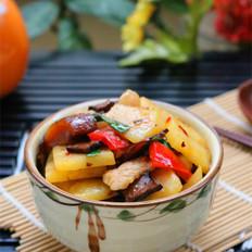 五花香干土豆片
