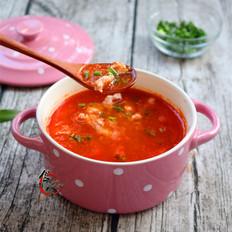 番茄肉丝浓汤