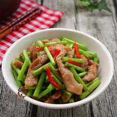 藜蒿炒肉片