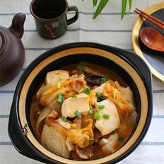 五花肉豆腐白菜煲