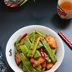 五花肉焖扁豆