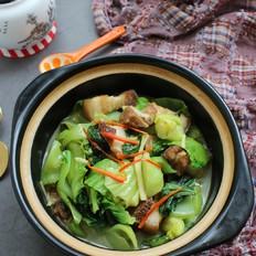 五花肉煲芥菜