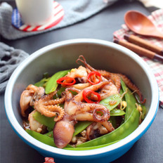 麻辣小章鱼炒荷兰豆