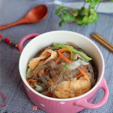 包菜豆皮炖粉条
