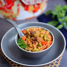 咸鹅豌豆番茄焖饭