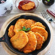 鸡蛋番茄虾仁饼