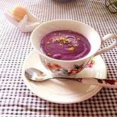 牛奶紫薯羹