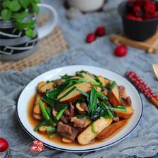 肉片韭菜炒香干
