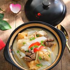 油豆腐牛筋丸萝卜煲