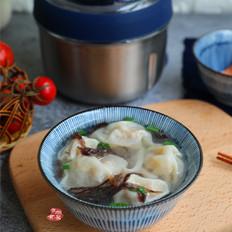 虾皮香菇鲜肉馄饨的做法