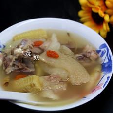 玉米清香竹荪排骨汤