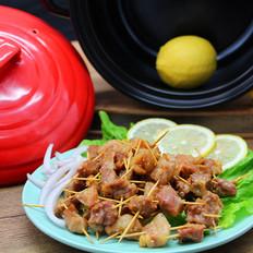 砂锅烤牙签肉