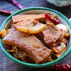 五花肉白菜炖豆腐