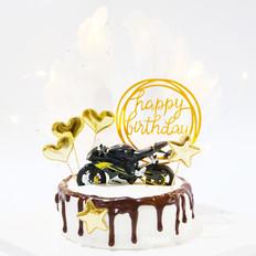 酷盖摩托生日蛋糕