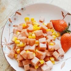 快手简单的午餐肉炒玉米粒