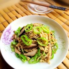 香菇尖椒豆腐丝