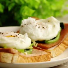 菠菜水波蛋的做法
