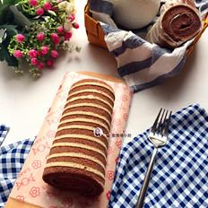 斑马线蛋糕卷(超详细版)