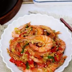 蒜香焗虾的做法