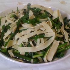 豆皮炒韭菜