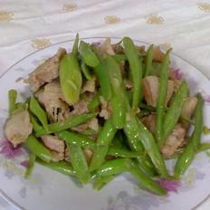 五花肉炒芸豆