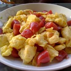 火腿肠炒鸡蛋