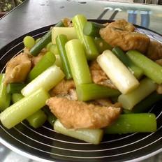 蒜苔油豆腐