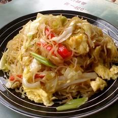 卷心菜炒米粉