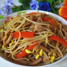 鸭肠炒黄豆芽