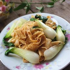 豆皮炒青菜