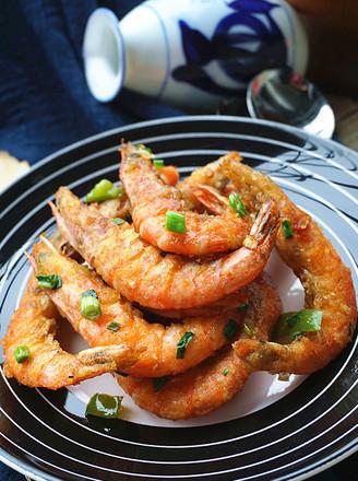 脆皮虾的做法