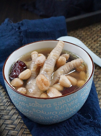 鸡脚花生汤的做法