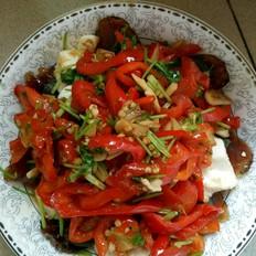 辣椒炒皮蛋豆腐