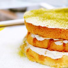 豆乳抹茶戚风蛋糕