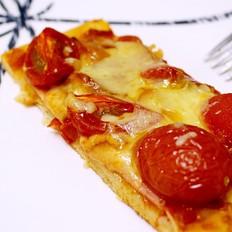 意式番茄火腿薄底披萨