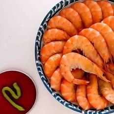 白灼海青虾