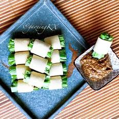 豆皮油麦菜卷