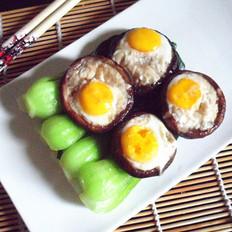 香菇镶鹌鹑蛋