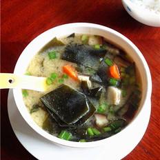 豆腐海带味噌锅