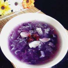 紫薯百合银耳汤