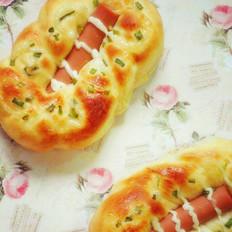 葱香肠仔面包