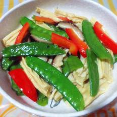 腐竹炒荷兰豆