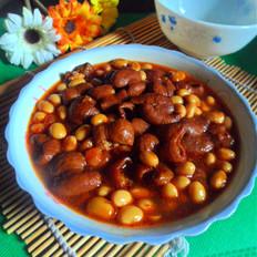 肥肠烧黄豆