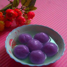 紫薯芝麻汤圆的做法