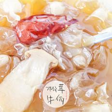 冰糖松茸银耳羹|牛佤松茸食谱