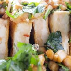 松茸口袋豆腐|牛佤松茸食谱