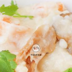 松茸虾油海鲜粥|牛佤松茸食谱